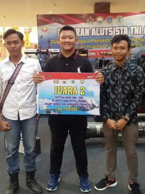 Juara 2 Festival Band dalam rangka hari ARMADA RI